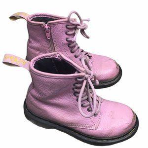 DR. MARTENS Delaney PBL Blush Pink Combat Boots 13